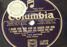 78rpm THE TRIX SISTERS i care for him & he cares for her / ukulele love song