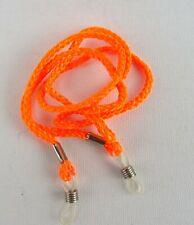 Cordon pour Lunettes Chaîne de Nylon Orange Œillets Transparent Argent