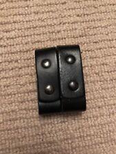 Ex Police 2 x Black Leather Belt Keepers / Sliders. Used.