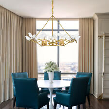 LED Bird Chandelier Dining Room Ceiling Light Transparent Pendant Lamp Fixture