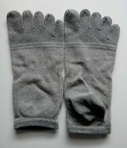 Paire de chaussettes à doigts basse gris/gris foncé