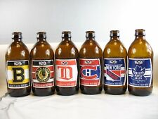 Original SIX 2017-18 Molson Canadian NHL 100th Anniversary Glass Beer Bottles