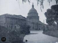 c.1905 US Capitol Building Rotunda Vintage Photo Dry Plate Glass Negative Photo