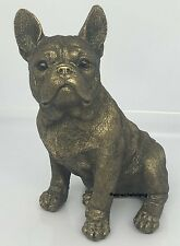 Bronze effect Reflection French Bulldog Figure Dog Ornament heavyweight gift