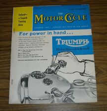 THE MOTOR CYCLE Magazine April 12 1962 For Power in Hand TRIUMPH Touring IRELAND
