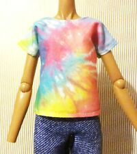 3 Pcs//set Fashion Handmade Yellow Coat Black Pant Rainbow Vest for s EbF1BC