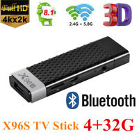 X96S 4K WiFi TV Stick 4+32G Android 8.1 TV Box Dongle HDR Quad Core Media Player