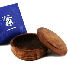 Natural wood Shaving Bowl with Lid Builds Great Lather Great Gift for Him