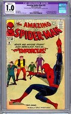 AMAZING SPIDER-MAN #10 CGC 1.0 STAN LEE STORY JACK KIRBY STEVE DITKO ART 1964
