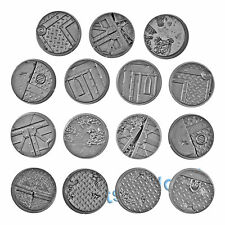 WARHAMMER 40K BITS: SECTOR IMPERIALIS BASES - 32mm SECTOR IMPERIALIS BASE SET