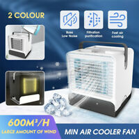 Portable Mini Air Conditioner Cool Cooling Fan For Bedroom Artic Cooler Fan LED