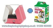 Tomy KiiPix Smartphone Photo Printer - Pink + Fuji Instax Mini Film Bundle  DEMO