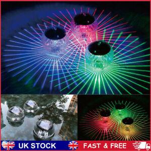Outdoor Solar LED Floating Lights Garden Pond Pool Lamp Rotating Color Change UK