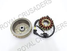 NEW ROYAL ENFIELD CLASSIC 500 FLYWHEEL MAGNETO STARTER AND ROTOR ASSY #RE108 @JR