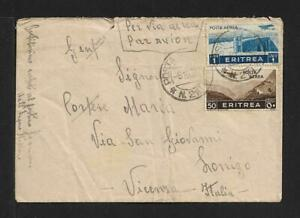 ERITREA TO ITALY AIRMAIL COVER 1934