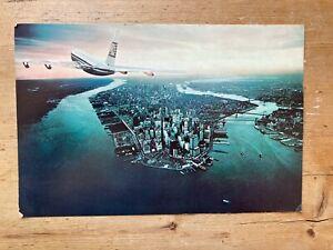 Aer Lingus Boeing 707 over New York Large Postcard unused rare