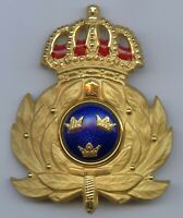 Sweden Army Military Officer Cap Badge Nice Grade !!!
