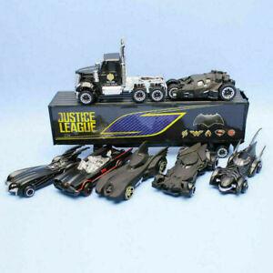 7Pcs SET Batman Batmobile&Truck Model Toy Vehicle Metal Diecast Car Kids Toys UK