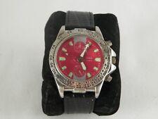 Bijoux Terner Quartz Watch K-13221 Diloy Black Leather 20 Band Stainless Steel