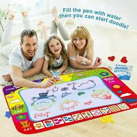 Aqua Doodle Water Painting Drawing Mat Large Writing Board Magic Pen Kids Toy