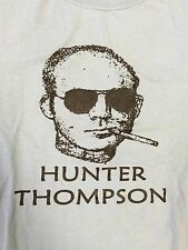 Hunter S Thompson T-shirt. Vintage. Size Adult Small - Light Blue color