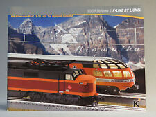 K-LINE BY LIONEL 2008 VOLUME 1 TRAIN CATALOG product publication manual book