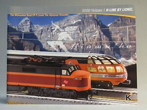 K-LINE BY LIONEL 2008 VOLUME 1 TRAIN CATALOG product publication manual book