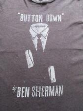 Ben Sherman Brown Beige Button Down Suit & Tie T Shirt Size L Large XL X-Large