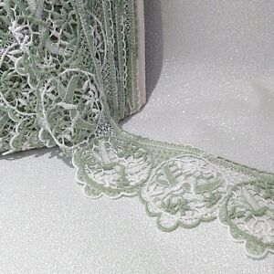 3 mtrs Guipure/marcame vintage 4 inches/100mm birds swallows cotton lace trim