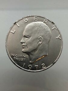 America - United States 1 Eisenhower Dollar/Dollar 1972 Km#203