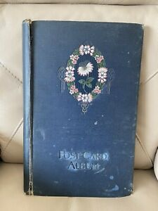 Vintage Post Card Album 1930s 1940s Blank 150 Postcard Capacity Card Book Floral