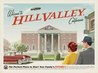 1985 Back To The Future > Welcome To Hill Valley Mini Poster Print > Marty McFly