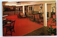 The Sugar Maples Maplecrest NY Colonial Lobby Vintage Postcard E01