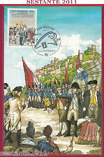 ITALIA MAXIMUM MAXI CARD RIVOLUZIONE FRANCESE SAN MARINO PHILEXFRANCE 1989 B998