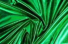 "Spandex Metallic Fabric / 60"" W / Sold by the yard - Green"