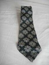 Vintage NWT Abstract Geometric Silver Blue Black Tie necktie