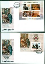 Reformation 500 Martin Luther Protestantism Guinea-Bissau imperforated FDC set