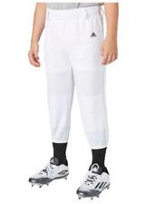 NEW adidas Youth Triple Stripe Pull-Up Pants Baseball T-Ball uniform white Pants