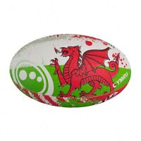 Optimum Sport Rugby Ball Wales Print Hand Stitched Durable Rubber Size MINI
