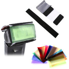 12 Color Gel Filter Sheet + Holder For Flash Speedlite Canon Nikon Yongnuo Sony