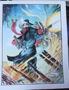 THE SHADOW MICHAEL KALUTA 1987 HAND SIGNED VINTAGE LIMITED EDITION COA DC