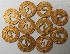 Lot of ten (10) Colorado Springs Transit Company transit tokens - CO140H