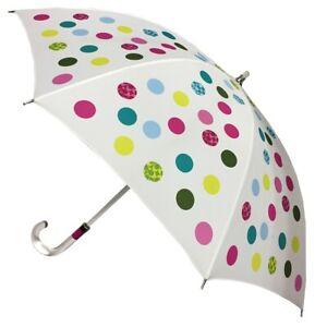 Coach Dots Print Stick Umbrella Lucite Handle and Shaft NWT MSRP $148.00