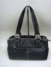 Tignanello Black Leather Satchel