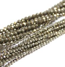 Pyrit Perlen Kugel facettiert 2 - 10 mm, 1 Strang #4302 BACATUS Edelstein