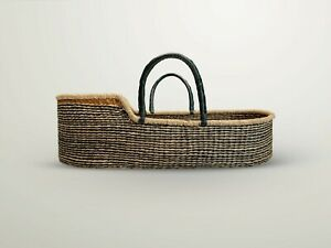 Handwoven Baby Moses Basket Ethically sourced fair trade plus mattressnaut