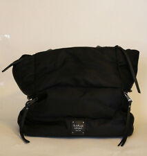 LuLu Sport New York Black Athletic Shoulder Bag Diaper Bag