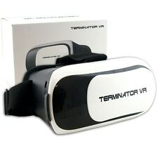 Terminator VR headset with slide out phone carrier