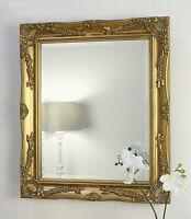 "Isabella Gold Shabby Chic Rectangle Antique Wall Mirror 26"" x 22"" Medium"