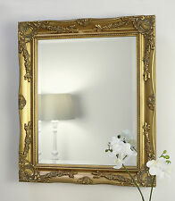 """Gold Rectangle Shabby Chic Wall Mirror - Isabella 26"""" x 22"""" (66cm x 56cm)"""